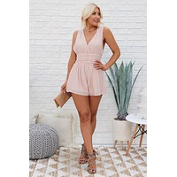 Take The Plunge Sleeveless Romper (Mauve)