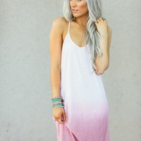Pink Ombre Tank Dress