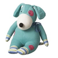 "CC Home Furnishings Pack of 2 Genuine Monkeez and Friends Teal Plush Digby Dog Stuffed Animal 17"" Animals"