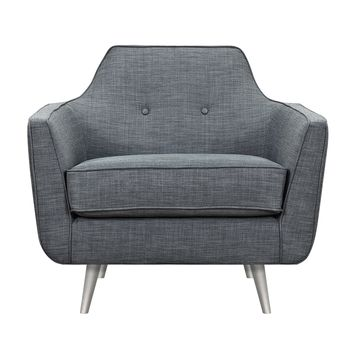 Charcoal Gray Helle Armchair