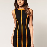 ASOS | ASOS Shift Dress With Neon Seams at ASOS