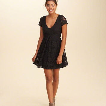 Girls Cutout Lace Skater Dress | Girls Dresses & Rompers | HollisterCo.com