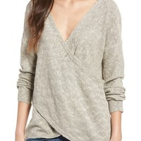 Love By Design Wrap Front Sweater | Nordstrom