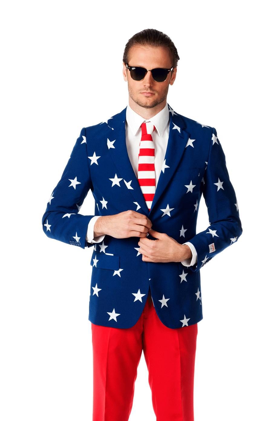 The merican gentleman american flag suit from shinesty what i