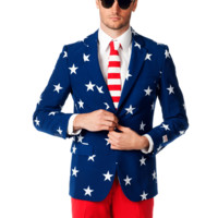 The Merican Gentleman American Flag Suit