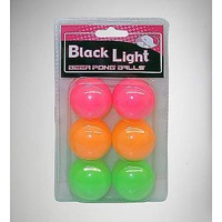 Black Light Beer Pong Balls - 6 Pack - Spencer's