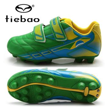 TIEBAO Professional Children Soccer Shoes Boys Football Boots Outdoor Anti-Slip AG Soles Soccer Cleats