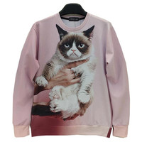 [Mikeal] Animals printed Fashion 3d sweatshirt for men/women funny  cat/panda/fox printed 3d hoodies Spring Autumn jacket