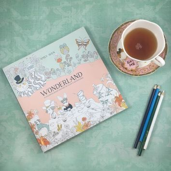 Books - Wonderland Coloring Book by Amily Shen