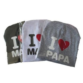 ESBONJ Baby I love Mom And Dad Caps Infant Cotton Children Hats Beanies Cap for Toddler Boys Girls