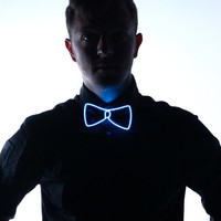 Light Up Bow Tie- Blue