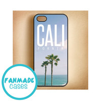California iPhone 4/4s 5/5s/5c & iPod 4/5 Rubber Case