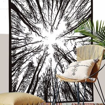 Magical Forest Boho Wall Bed Bohemian Tapestry