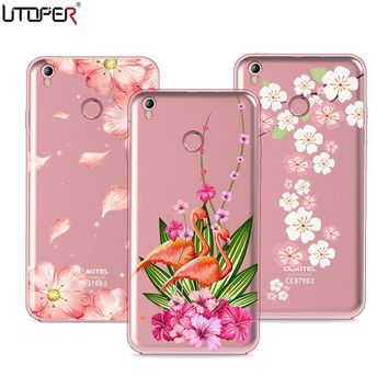UTOPER Case For Oukitel U7 Plus Case Silicone Soft Fashion Flower Printed Shell For Oukitel U7 Plus Cover Shockproof Back Cover