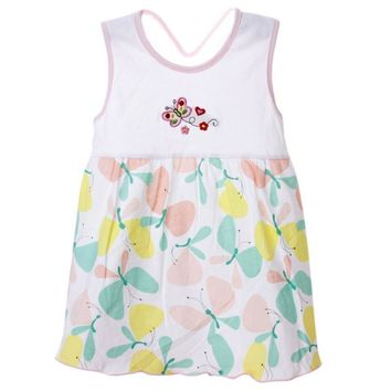 Summer New Newborn Baby Girls Dress Embroidered Cotton Floral Dress Infant Girls Dress Beach Parth Dresses Pattern Send Randomly