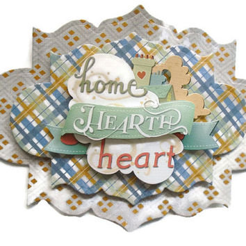 Scrapbook Embellishment, Family, handmade 3D,  gift tags, Scrapbook Layouts Cards, Mini Albums smash book, Paper Crafts