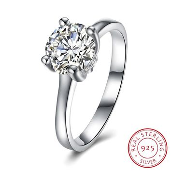 925 Sterling Silver Ring 925 silver jewelry boutique diamond wedding ring SH-R0088 simple