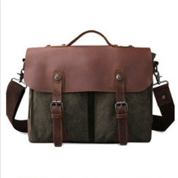 Men's casual canvas tote bag Messenger bag men messenger bag = 1697288516