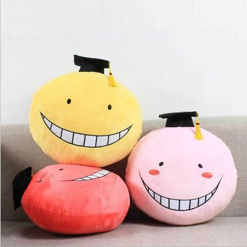 Assassination Classroom Korosensei Soft Plush Emoji Pillow Toy