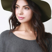 Aged Curb Link Chain Felt Floppy Hat
