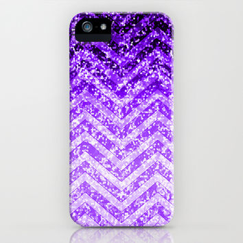 Zig Zag Sparkley Texture G229 iPhone & iPod Case by MedusArt