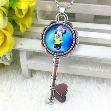 Amazing Colorful Minnie Mouse Key Necklace