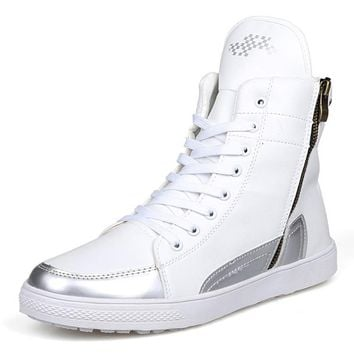High Top Men Boots New British Style Sneakers Ankle Boots