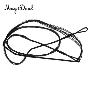 MagiDeal Archery Bowstrings Bow Strings Black For Recurve Bow Longbow Hunting, Black  - Various Length