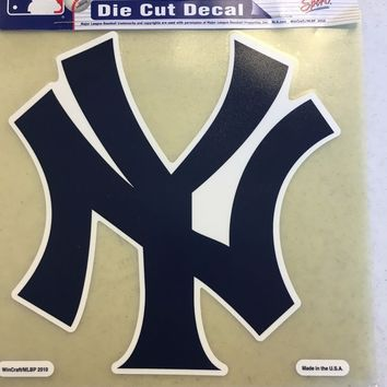 NEW YORK YANKEES COLOR CAR WINDOW DECAL GREAT HOLIDAY GIFT SHIPPING