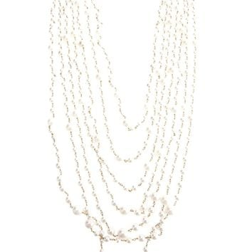 Rosantica Long Layered Pearl Necklace