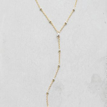 Diamond Cut Lariat - Gold