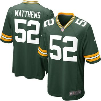 Mens Green Bay Packers Clay Matthews Nike Green Game Jersey