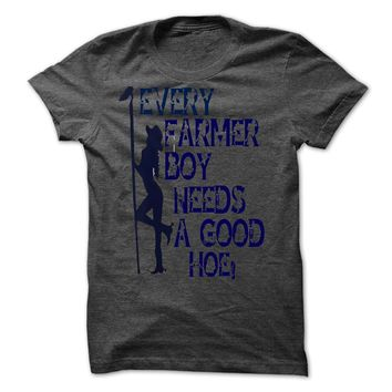 farmer boy needs a hoe