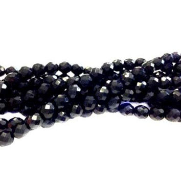 8mm Czech Dark Cobalt Blue Fire Polished Glass beads