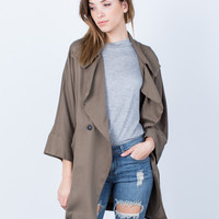 Double Buttoned Trench Jacket