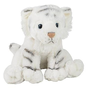 "11"" White Tiger Stuffed Animal Plush Floppy Zoo Species Collection"