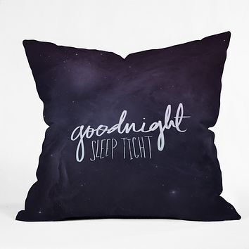 Leah Flores Goodnight Throw Pillow