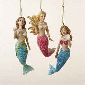 12 Christmas Ornaments - Mermaids