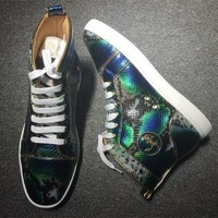 Cl Christian Louboutin Python Style #2265 Sneakers Fashion Shoes - Best Deal Online