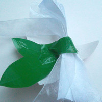 Duct Tape Wrist Corsage- Single Painted Lily Corsage