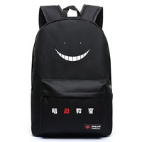 Anime Assassination Classroom New Ansatsu Kyoushitsu Korosensei Backpack Anime Cosplay School Bag Preppy Style Oxford Teenagers