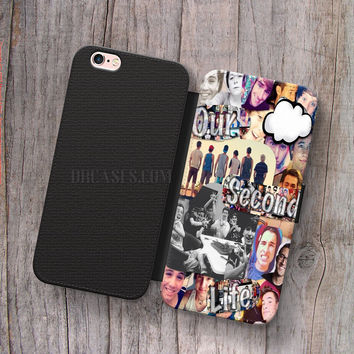 Wallet Leather Case for iPhone 4s 5s 5C SE 6S Plus Case, Samsung S3 S4 S5 S6 S7 Edge Note 3 4 5 Our 2nd Life collage Cases