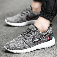 Casual Sports Shoes Couple Linen Canvas Men's Shoes [257818886173]