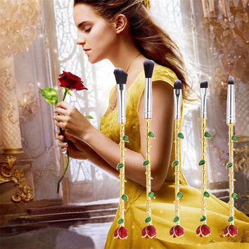 2017 Beauty and the Beast Makeup Rose Flower Bell's makeup brushes in Makeup Brushes & Tools