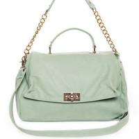 Cute Mint Handbag - Pastel Handbag - Vegan Purse - $50.00