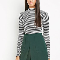 Paneled Crepe Skirt