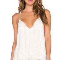 Rayon Gauze Dandi Darling Top in Ivory