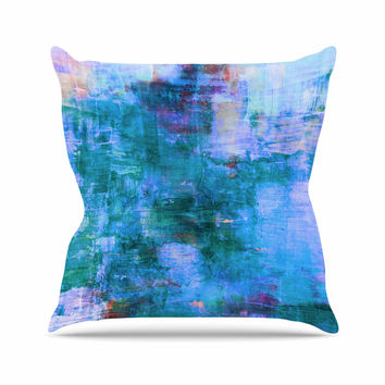 "Ebi Emporium ""The Reef"" Blue Teal Throw Pillow"