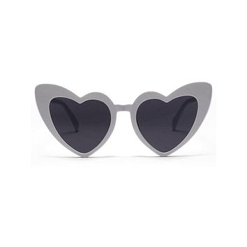 Leo Heart Sunglasses- White
