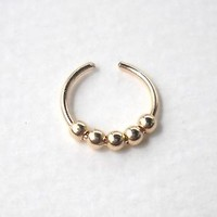 14K Gold Filled Ear Cuff or Fake Nose Ring G20 - 8mm Fake piercing ring